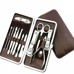 12pcs pedicure manicure set nail clippers cleaner