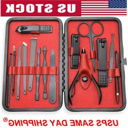 15Pcs Stainless Steel Professional Manicure Pedicure Kit Nai