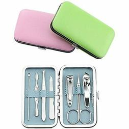 3 pack 7pcs manicure set stainless steel