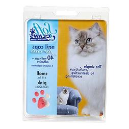 Soft Claws Feline Cat Nail Caps Take-Home Kit, Small, Pink