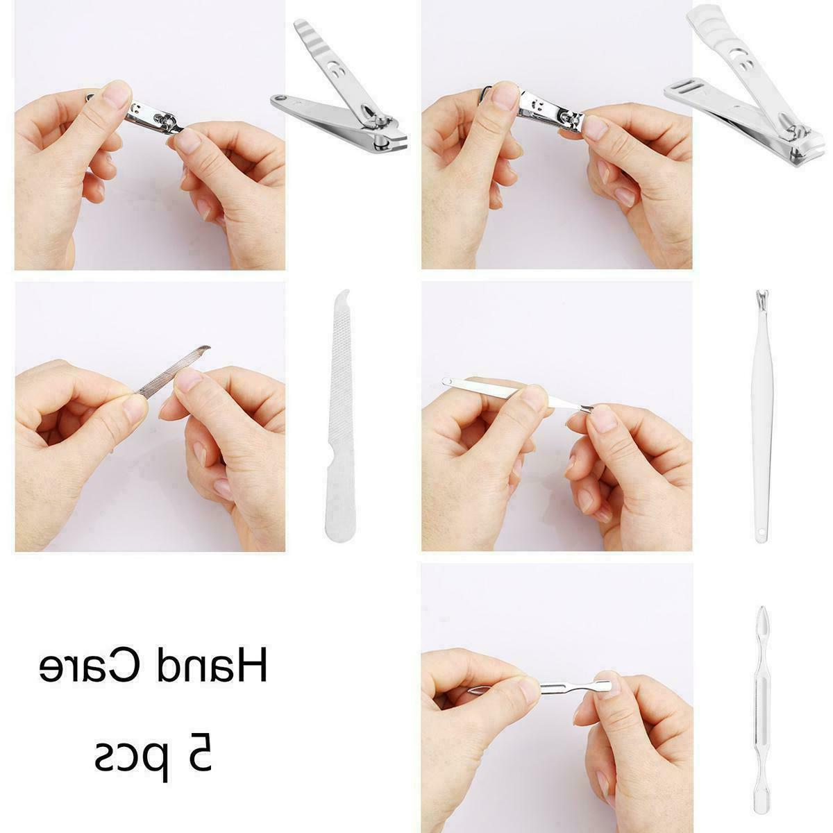 12 Manicure Nail Care Cuticle Clippers Kit Case