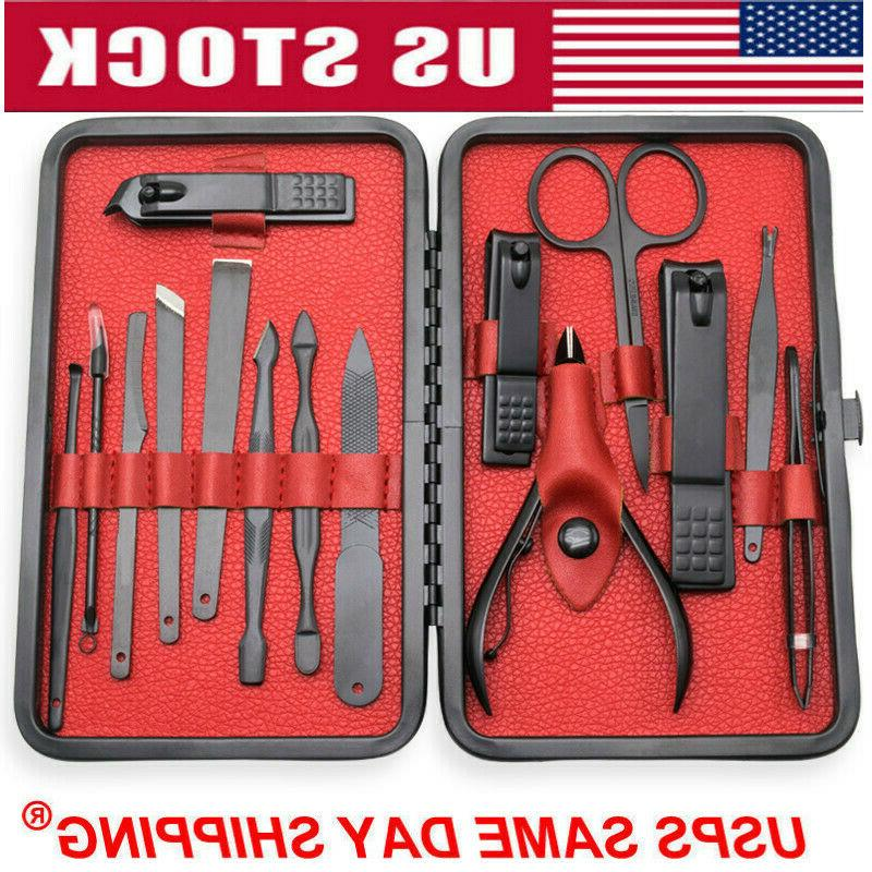 15pcs stainless steel professional manicure pedicure kit