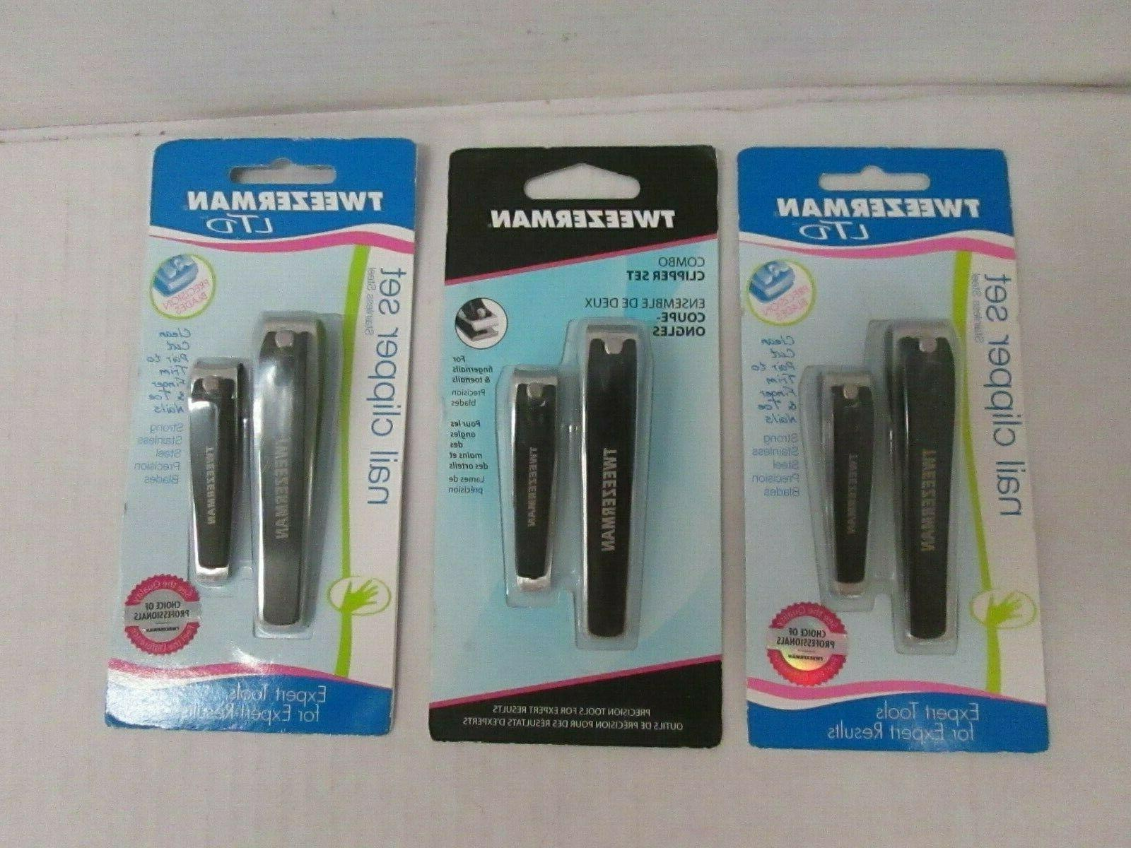 3 staineless steel nail clipper sets new
