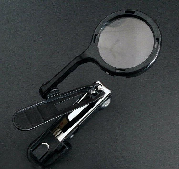 Clippers With Magnifier Trimmer Stainless Steel
