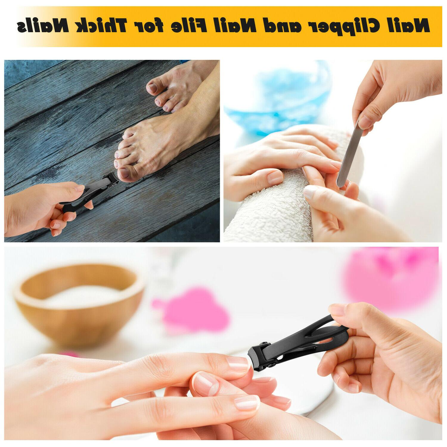 Extra Toe Clippers For Thick Nails Cutter Duty Stainless