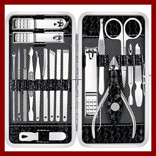 manicure set nail clippers pedicure kit 18