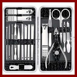 Manicure Set Nail Clippers Pedicure Kit 18 PC Stainless Stee